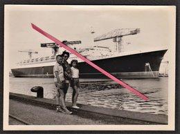 """44 SAINT-NAZAIRE - Photo Originale _ Compagnie Générale Transatlantique _ French Line _ Sortie Du Paquebot """"FRANCE"""" 1960 - Schiffe"""