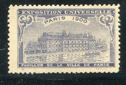 Vignette / 1900 / Exposition Universelle Paris (24169) - Cinderellas