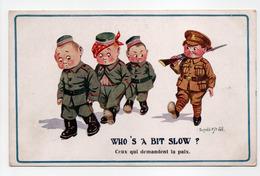 - CPA Donald Mc Gill (illustrateurs) - WHO'S A BIT SLOW ? - Series COMIQUE 1654 - - Mc Gill, Donald