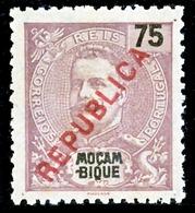 """!■■■■■ds■■ Mozambique 1917 AF#193(*) Local """"republica"""" 75 Réis (x0649) - Mozambique"""