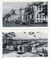 Real Photo Set Of 13 Size 11,5/ 7 Cms American Cars , Views , Buildings Complete Set Flatau - Panama