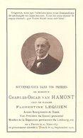 Faire-Part Mr. Charles Van HAMONT - Bourgmestre De DONCK Décédé à DONCK Le 14/09/1916. - Esquela