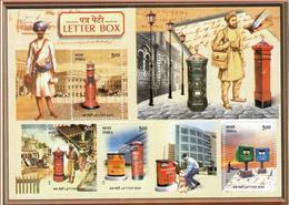 5X INDIA 2005 Letter Box; Miniature Sheet, MINT - India