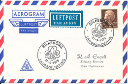 Denmark Air Mail Cover Scout Scouting Silkeborg 21-9 1975 Landsgildeting - Scouting