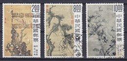 Taiwan 1977 Mi. 1170-72 Altchinesische Malerei Paintings Gemälde Complete Set !! - 1945-... Repubblica Di Cina