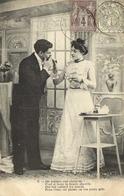 COUPLE V On Permet Une Cigarette !  Beaux Timbres 4c + 1C RV Cachets Britexte Lectoure - Couples