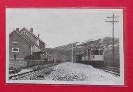 66 Saillagouse La Gare Du Chemin De Fer Train Jaune Animée Tardive éditeur Labouche N°301 Ferrocarril - Autres Communes