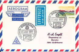 Denmark Air Mail Cover Scout Scouting Svendborg 27-7-1977 Nordisk Sjöscout - Scouting