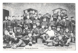 Leopoldsburg Camp De Beverloo Les Plus Grands Claqueurs Du Régiment Edit Kwaspen 1914 - Leopoldsburg (Beverloo Camp)