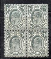 APR2517 - GRAN BRETAGNA 1909 , EVII Unificato N. 123 In Quartina   ***  MNH  (2380A). - 1902-1951 (Re)