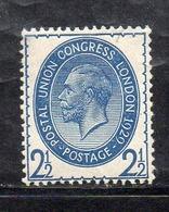 APR2518 - GRAN BRETAGNA 1909 , GV Unificato N. 182   ***  MNH  (2380A).  Upu - Nuovi