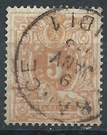 N°28, 5c Ocre Obl Cachet D'entrée FRANCE / MIDI 1 - 1869-1883 Léopold II