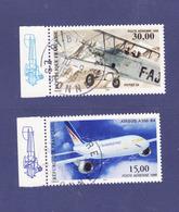Poste Aérienne: PA 62,PA 63, Avec Vignette Du Feuillet, Airbus A300,Potez 25, Cachet Rond - 1960-.... Oblitérés