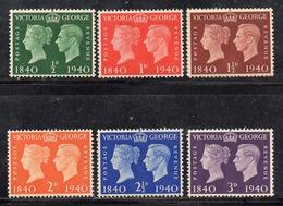 APR2519 - GRAN BRETAGNA 1940 , GVI Unificato N. 227/232   ***  MNH  (2380A). - Nuovi