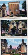 6 CPA  - PONS  (17)  Eglise, Chapelle,  Chateau, Mairie Et Donjon, Jardin Public, Monument Aux Morts - Pons