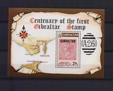 GIBRALTAR 1986 CENTENARY OF FIRST POSTAGE STAMP  BLOK A163 - Gibraltar