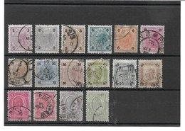 1520z: Österreich 1899, ANK 69- 83 Gestempelt Komplett - 1850-1918 Imperium