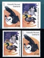 2019 - GROENLANDIA / GREENLAND - EUROPA  CEPT - UCCELLI / BIRDS - SET COMPLETO. MNH. - 2019