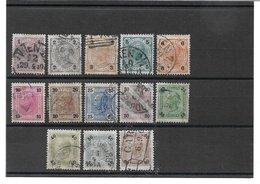 1520y: Österreich 1901, ANK 84- 96 Gestempelt Komplett - 1850-1918 Imperium