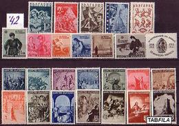 BULGARIA / BULGARIE - 1942 - Anne Complet'42 Nev - 25 Tim.** MNH - Années Complètes