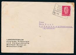 REICH - Br. Van MUNCHEN Naar ORTENBERG - Bahnpost Zug 93 MUNCHEN-STUTTGART Dd. 13-01-1931 - (ref. 1626). - Lettres & Documents