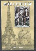 Tchad 1998 Tour Eiffel Laurel Et Hardy   MNH - Beroemde Personen