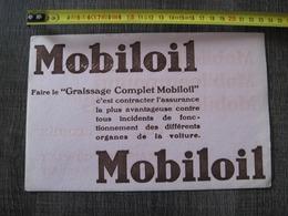 Buvard Huile Mobiloil - Macchina