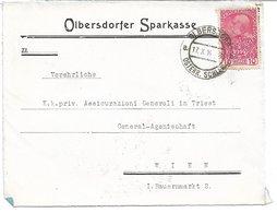1520m: Heimatbeleg Briefvorderseite Olbersdorf Österreichisch Schlesien, Heute Město Albrechtice, 1914 - Ganzsachen