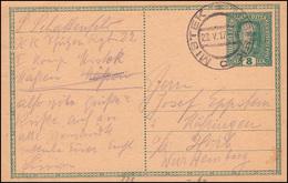 Österreich Postkarte P 229 Von MISTEK 23.5.1917 Nach Horb / Württemberg - Non Classificati
