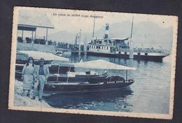 Verbania Un Saluto Da Intra ( Lago Maggiore ) ( Animée Couple Bateau Ed. A. Conti Cachet à Date Intra Novara 20.3.31) - Verbania