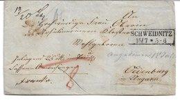 1520l: Heimatbeleg Österreichisches Ostgebiet- Schweidnitz, Heute Świdnica, Attraktiver Siegelbeleg - ...-1860 Vorphilatelie