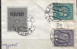 1520k: Flugpostmarke Auf Briefstück Lt. Scan - 1850-1918 Imperium