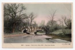 Lyon (Rhône) Parc De La Tête D'or, Le Pont De Pierre        LES 2 CARTES - Otros