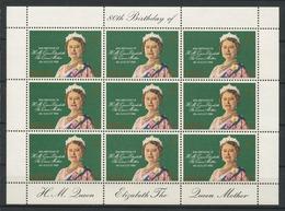 GIBRALTAR 1980 N° 410 ** Feuille Neufs MNH Superbes C 9 €   80 Eme Anniversaire Reine Mère Elizabeth - Gibraltar