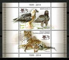 Estonia 2014 / Birds Mammals Leopard MNH Vögel Säugetiere Aves Mamíferos Felinos Oiseaux / Cu14509  40-11 - Pájaros