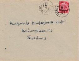 LAC Affr Michel Lothringen 7 Obl METZ 4 Du 02.4.41 Adressée à Strassburg - Marcophilie (Lettres)