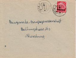 LAC Affr Michel Lothringen 7 Obl METZ 4 Du 02.4.41 Adressée à Strassburg - Marcofilia (sobres)