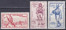 Franz. Somalia 1941 Militär Military Soldaten Garde Landesverteidigung National Defense Djibouti Dschibuti, Mi. 190-2 ** - Französich-Somaliküste (1894-1967)