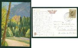 Yugoslavia 1930 Bahnpost Railway Mail Ambulance Post Kocevje - Ljubljana 74 Hohenschwangau Catel Postcard Letter - Covers & Documents