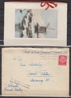 """Dt.Reich """" Durch Deutsche Dienstpost Niederlande """" Brief Mit Tarn-o  1941 Als Postsache EF 519 - Allemagne"""