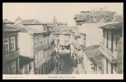 VALENÇA - Rua De S. João ( Ed. Joaquim Augusto Togo) Carte Postale - Viana Do Castelo