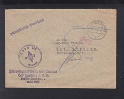 Dt. Reich Brief HJ Bann 166 Taunus Bad Homburg 1938 Vignette Kolonien - Allemagne