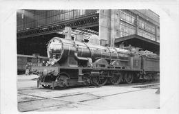 LOCOMOTIVE- CARTE-PHOTO - Railway