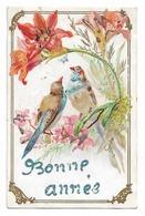 CPA BONNE ANNEE / OISEAUX - New Year