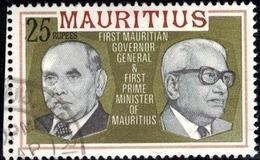 Governor Gen. R. Osman & S. Ramgoolan, 1st Prime Minister, Mauritius SC#463 Used - Mauricio (...-1967)