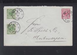 Dt. Reich Umschlag 1891 Mainz Nach Belgien - Briefe U. Dokumente