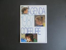 Calendrier 1987 Agenda De Coiffure Avec Photos Femme Coiffée 8 Pages Salon Martin  25 Besançon - Tamaño Pequeño : 1981-90