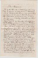 Lettre De Victor Zeller Janvier 1871 à Mr Ceuzin Prisonnier à Rastadt Témoignage  Guerre Et Petite Vérole à Oberbruck - Historische Documenten