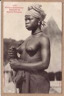 AFRIQUE OCCIDENTALE - 1344 - ETUDE N° 23 - FEMME SOUSSOU AUX SEINS NUS , BIJOUX - Collection Générale Fortier - Guinée Française