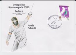 Corea Cover 1988 Seoul Olympic Games - Fechten Arndt Schmitt (T4-39) - Ete 1988: Séoul